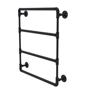 Pipeline Matte Black 24-Inch Wall Mounted Ladder Towel Bar