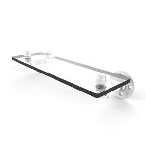 Pipeline Matte White 16-Inch Glass Shelf