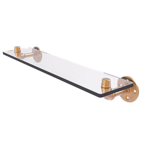 Pipeline Brushed Bronze 22-Inch Glass Shelf