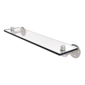 Pipeline Satin Nickel 22-Inch Glass Shelf