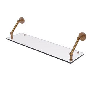 Prestige Skyline Brushed Bronze 30-Inch Floating Glass Shelf