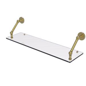 Prestige Skyline Satin Brass 30-Inch Floating Glass Shelf