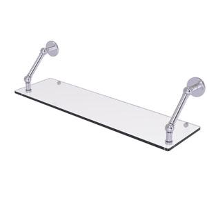 Prestige Skyline Satin Chrome 30-Inch Floating Glass Shelf