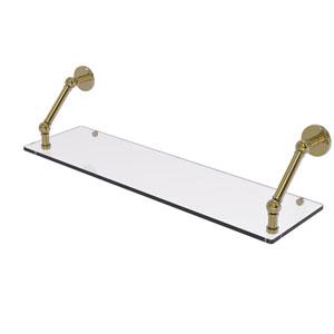 Prestige Skyline Unlacquered Brass 30-Inch Floating Glass Shelf