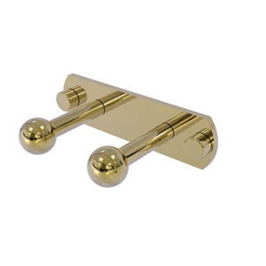 Prestige Skyline Unlacquered Brass Three-Inch Two-Position Multi Peg
