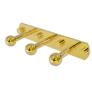 Prestige Skyline Polished Brass Three-Inch Three-Position Multi Peg