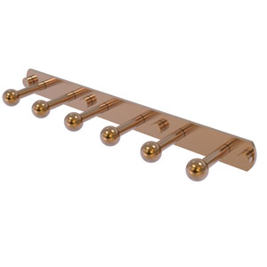 Prestige Skyline Brushed Bronze Three-Inch Six-Position Tie and Belt Rack