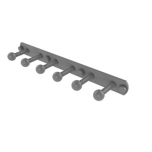 Prestige Skyline Matte Gray Three-Inch Six-Position Tie and Belt Rack