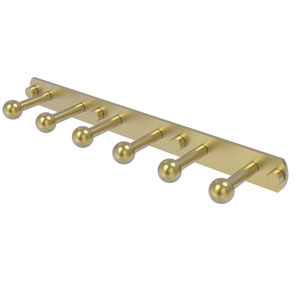 Prestige Skyline Satin Brass Three-Inch Six-Position Tie and Belt Rack