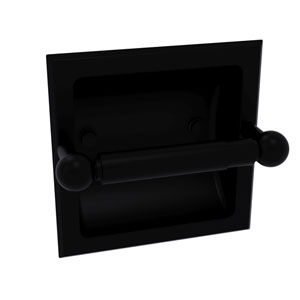 Prestige Skyline Matte Black Six-Inch Recessed Toilet Paper Holder