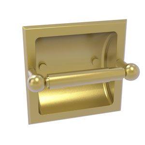 Prestige Skyline Satin Brass Six-Inch Recessed Toilet Paper Holder