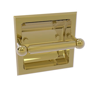 Prestige Skyline Unlacquered Brass Six-Inch Recessed Toilet Paper Holder
