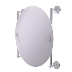 Prestige Skyline Polished Chrome 22-Inch Round Frameless Rail Mounted Mirror
