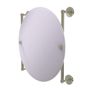 Prestige Skyline Polished Nickel 22-Inch Round Frameless Rail Mounted Mirror