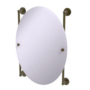 Prestige Skyline Antique Brass 21-Inch Oval Frameless Rail Mounted Mirror