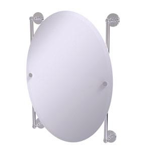 Prestige Skyline Polished Chrome 21-Inch Oval Frameless Rail Mounted Mirror