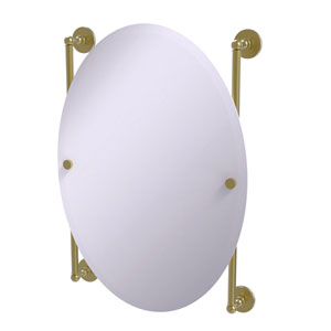 Prestige Skyline Satin Brass 21-Inch Oval Frameless Rail Mounted Mirror