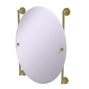 Prestige Skyline Satin Brass 21-Inch Oval Frameless Rail Mounted Mirror