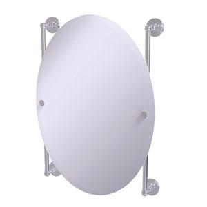 Prestige Skyline Satin Chrome 21-Inch Oval Frameless Rail Mounted Mirror