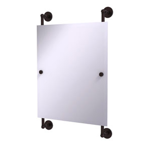 Prestige Skyline Antique Bronze 21-Inch Rectangular Frameless Rail Mounted Mirror