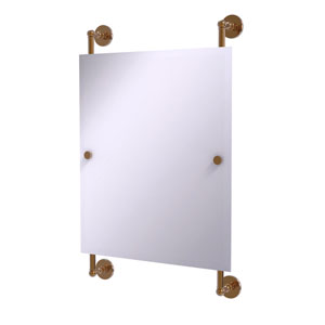 Prestige Skyline Brushed Bronze 21-Inch Rectangular Frameless Rail Mounted Mirror