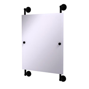 Prestige Skyline Matte Black 21-Inch Rectangular Frameless Rail Mounted Mirror