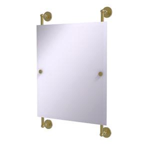 Prestige Skyline Satin Brass 21-Inch Rectangular Frameless Rail Mounted Mirror