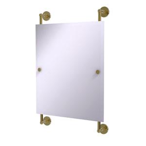 Prestige Skyline Unlacquered Brass 21-Inch Rectangular Frameless Rail Mounted Mirror