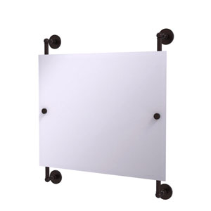 Prestige Skyline Antique Bronze 26-Inch Landscape Rectangular Frameless Rail Mounted Mirror