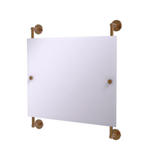 Prestige Skyline Brushed Bronze 26-Inch Landscape Rectangular Frameless Rail Mounted Mirror
