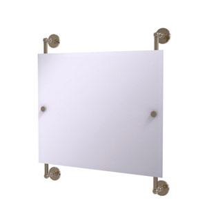 Prestige Skyline Antique Pewter 26-Inch Landscape Rectangular Frameless Rail Mounted Mirror