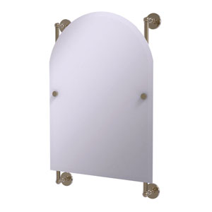 Prestige Skyline Antique Pewter 21-Inch Arched Top Frameless Rail Mounted Mirror