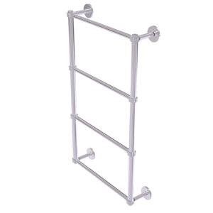 Prestige Skyline Polished Chrome 30-Inch Four Tier Ladder Towel Bar with Dotted Detail
