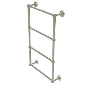 Prestige Skyline Polished Nickel 30-Inch Four Tier Ladder Towel Bar with Dotted Detail