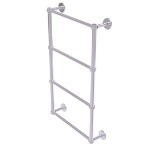 Prestige Skyline Satin Chrome 30-Inch Four Tier Ladder Towel Bar with Dotted Detail