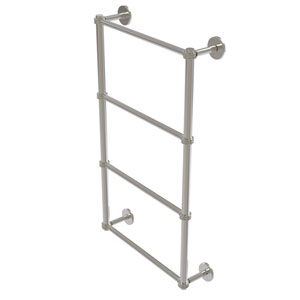 Prestige Skyline Satin Nickel 30-Inch Four Tier Ladder Towel Bar with Dotted Detail