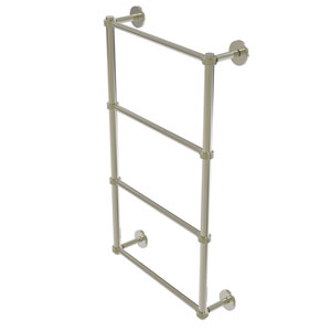 Prestige Skyline Polished Nickel 36-Inch Four Tier Ladder Towel Bar with Dotted Detail