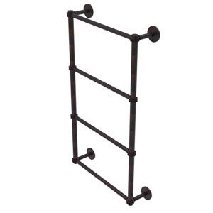 Prestige Skyline Venetian Bronze 36-Inch Four Tier Ladder Towel Bar with Dotted Detail