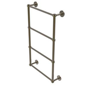 Prestige Skyline Antique Brass 30-Inch Four Tier Ladder Towel Bar with Groovy Detail