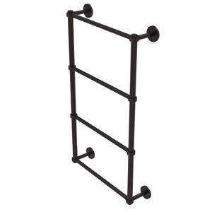 Prestige Skyline Antique Bronze 30-Inch Four Tier Ladder Towel Bar with Groovy Detail