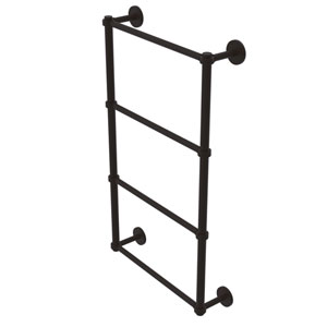 Prestige Skyline Oil Rubbed Bronze 30-Inch Four Tier Ladder Towel Bar with Groovy Detail