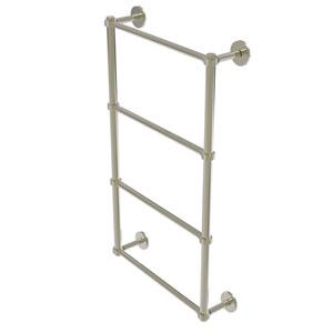 Prestige Skyline Polished Nickel 30-Inch Four Tier Ladder Towel Bar with Groovy Detail