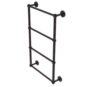 Prestige Skyline Venetian Bronze 30-Inch Four Tier Ladder Towel Bar with Groovy Detail