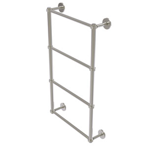 Prestige Skyline Satin Nickel 36-Inch Four Tier Ladder Towel Bar with Groovy Detail