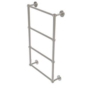 Prestige Skyline Satin Nickel 36-Inch Four Tier Ladder Towel Bar with Groovy Detail