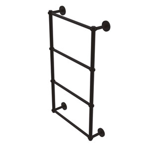 Prestige Skyline Oil Rubbed Bronze 30-Inch Four-Tier Ladder Towel Bar with Twisted Detail