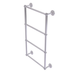 Prestige Skyline Polished Chrome 30-Inch Four-Tier Ladder Towel Bar with Twisted Detail
