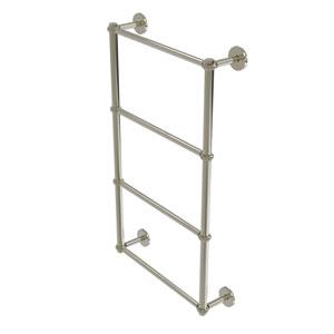 Prestige Skyline Polished Nickel 30-Inch Four-Tier Ladder Towel Bar with Twisted Detail