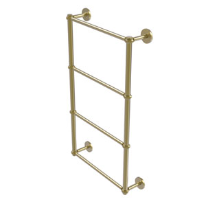 Prestige Skyline Satin Brass 30-Inch Four-Tier Ladder Towel Bar with Twisted Detail