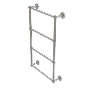 Prestige Skyline Satin Nickel 30-Inch Four-Tier Ladder Towel Bar with Twisted Detail